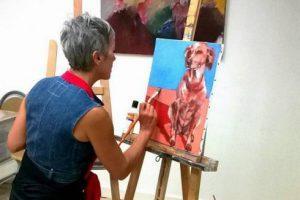 Peintre à l'atelier