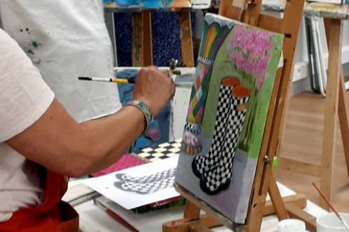 Peinture 3 – Acrylique et techniques mixtes