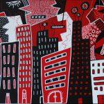 La ville rouge, paysage urbain, Nadel