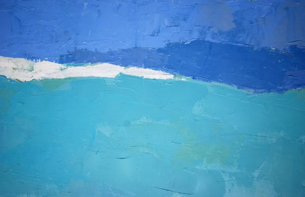 bleu peinture huile agnès cellérier
