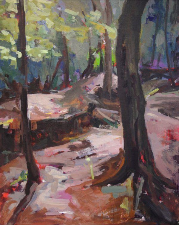 Un bon bain de lézards peinture Grande Guerre Alexandra Chauchereau
