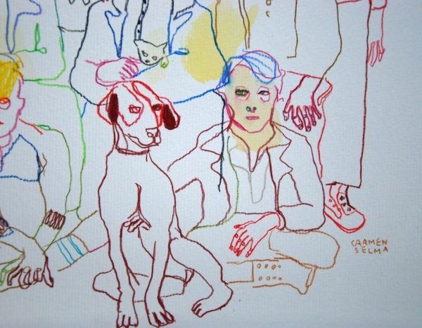 L'entrée pour les garçons aquarelle Carmen Selma