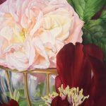 Baccarat peinture fleur Juliana Wildner