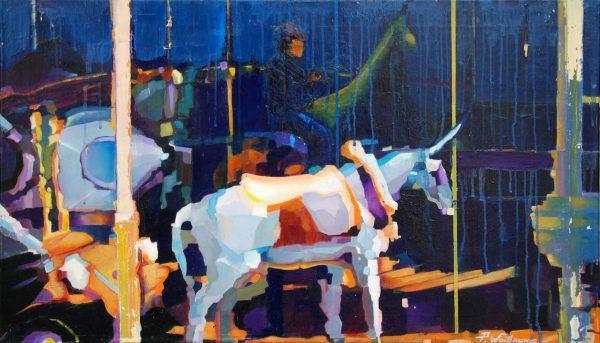 carrousel peinture Pierre Wuillaume