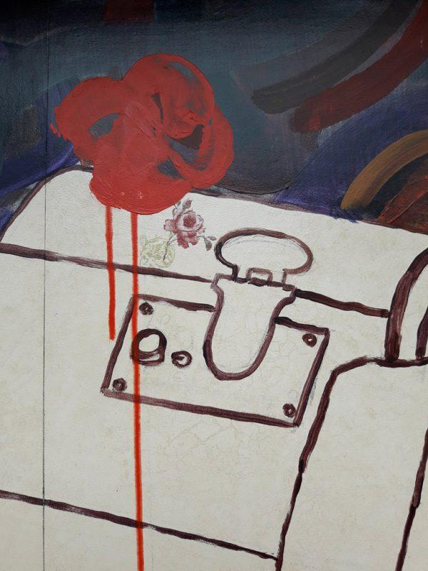 La valise peinture Alexandra Chauchereau