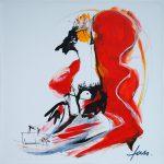 Voyageurs peinture Christophe Faso