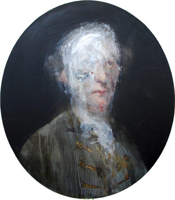 Noblesse portrait sur chassis ovale Jerome Bouscarat