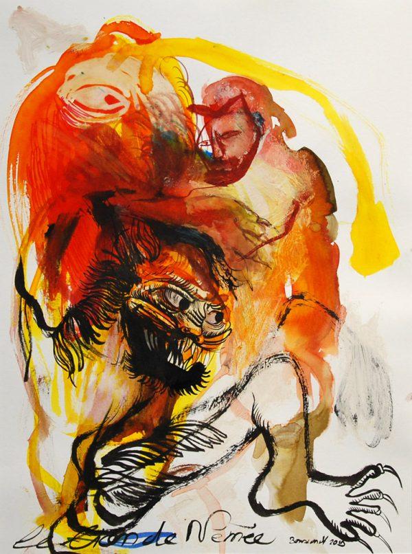Le lion de Némée de Jérôme Bouscarat