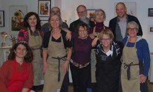 Groupe de 10 personnes, professeurs des ateliers d'art