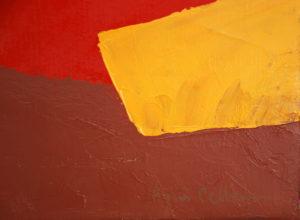 Paysage au champs rouge d'Agnès Cellérier