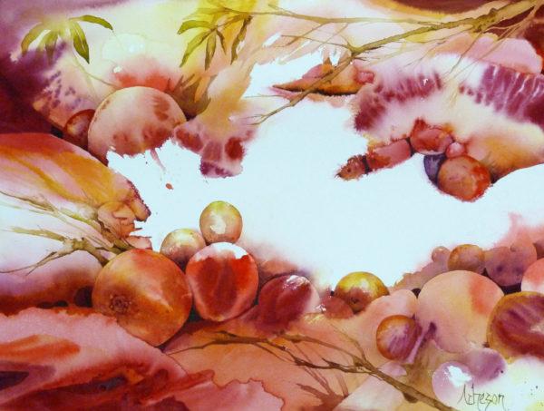 Peaches at Dusk de Donna Acheson Juillet