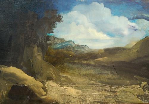 Détail d'une peinture de Jérôme Bouscarat