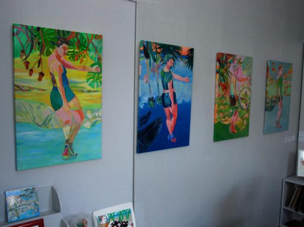 Vue de l'exposition de Delphine Rocher