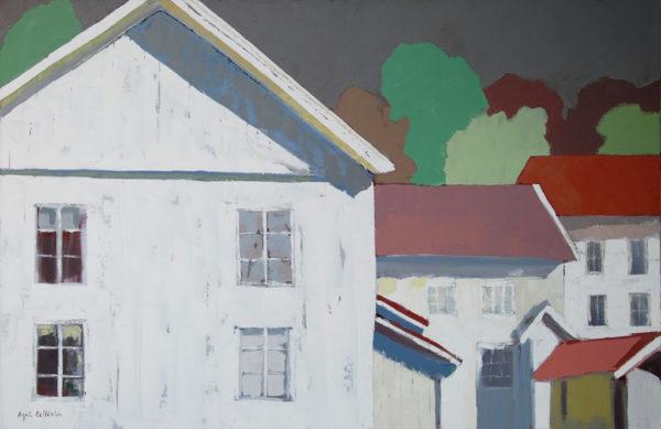 Façades blanches en Suède d'Agnès Cellérier