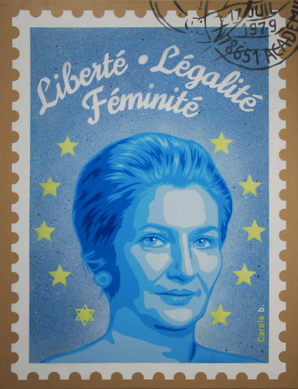 Liberté égalité féminité bleu de Carole b.