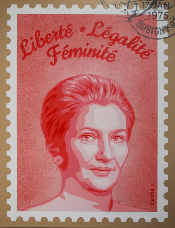 Liberté légalité féminité rose de Carole b.