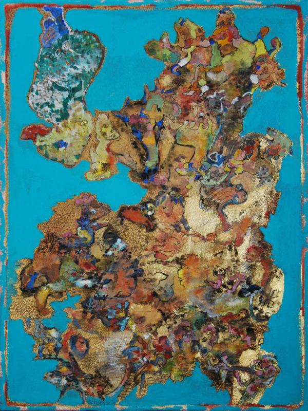 Petit loup peinture d'Esther Ochsenbein