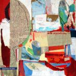 peinture, acrylique, paysage abstrait, arbres, hiver
