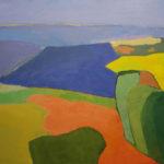 La lauragais, paysage, peinture au couteau
