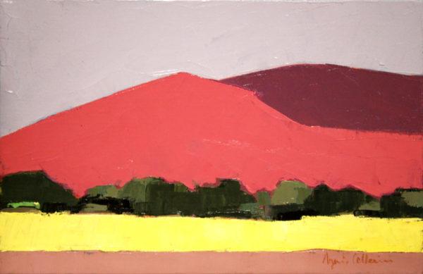 désert, Namibie, peinture, couteau