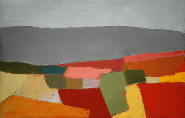 paysage, campagne, abstrait, couteau