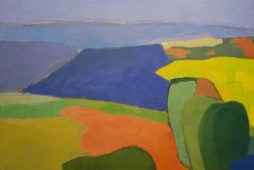 peinture, huile, paysage, Cellérier