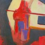 peinture, semi-abstrait, personnage