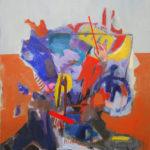 abstrait, acrylique, peinture