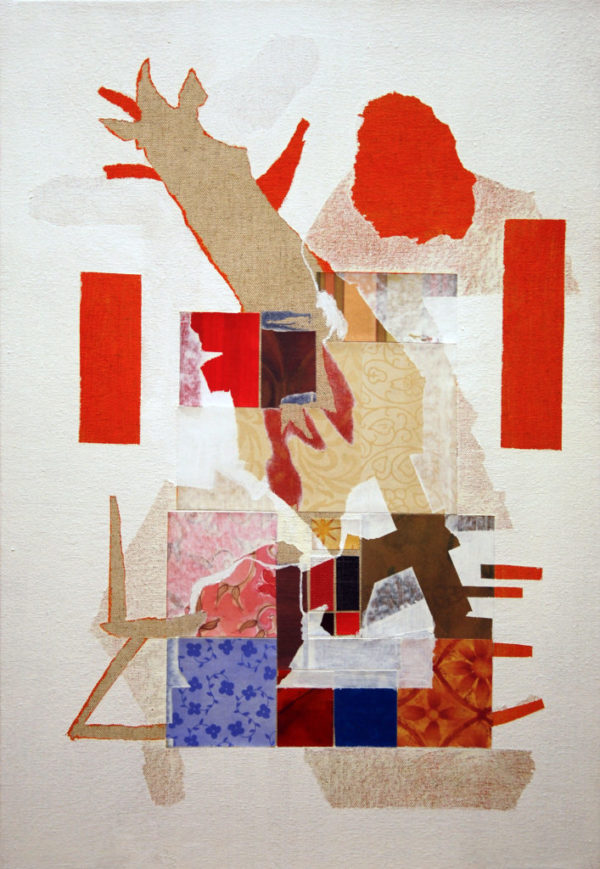 peinture, composition, collage, plan
