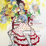 peinture, espagne, flamenco