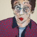 portrait, humour, acrylique, frairot