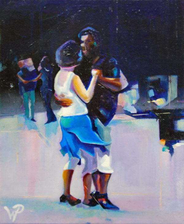 danse, peinture, huile