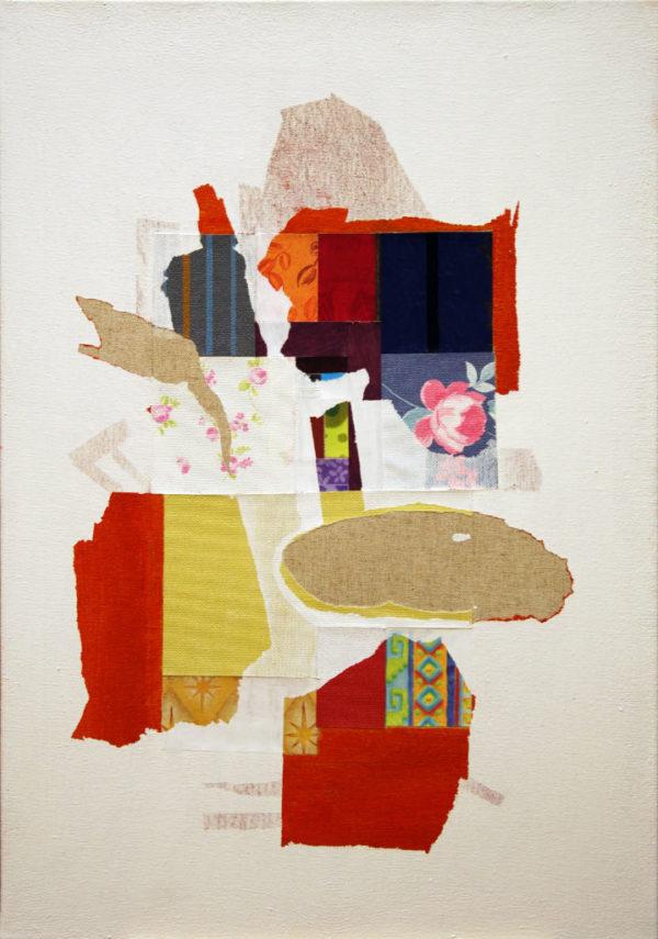 composition, peinture, collage,