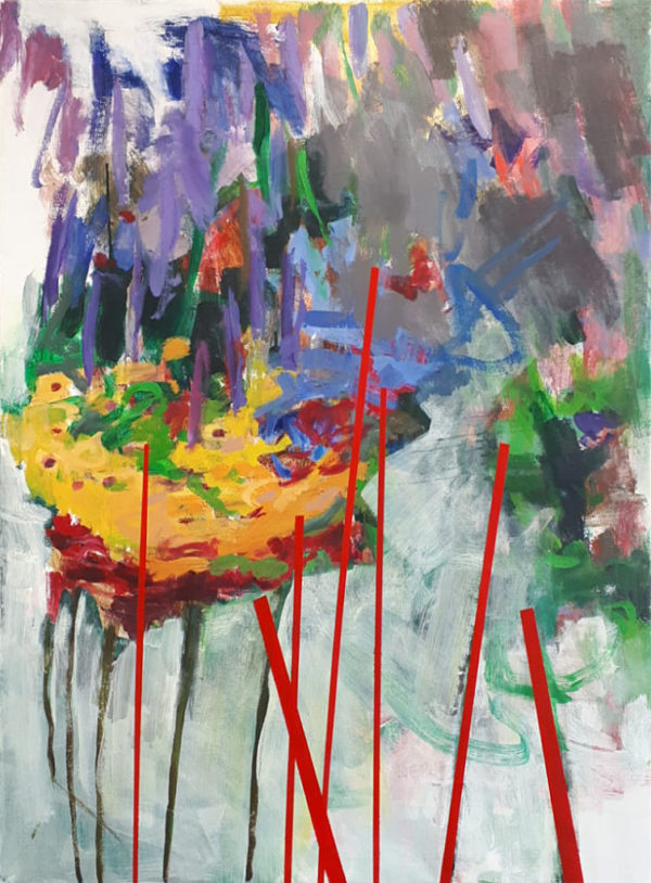peinture, composition, abstrait