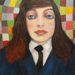 portrait, jeune fille, collège