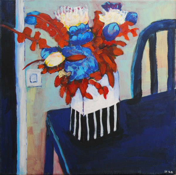 bouquet, peinture, acrylique