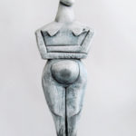 sculpture, terre cuite, acrylique