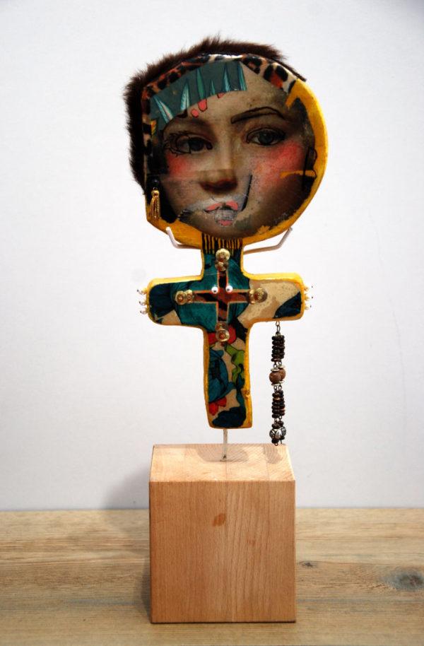 sculpture, art brut, femme