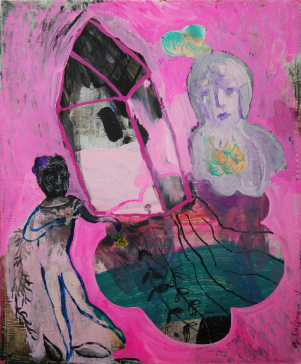peinture, acrylique, maison
