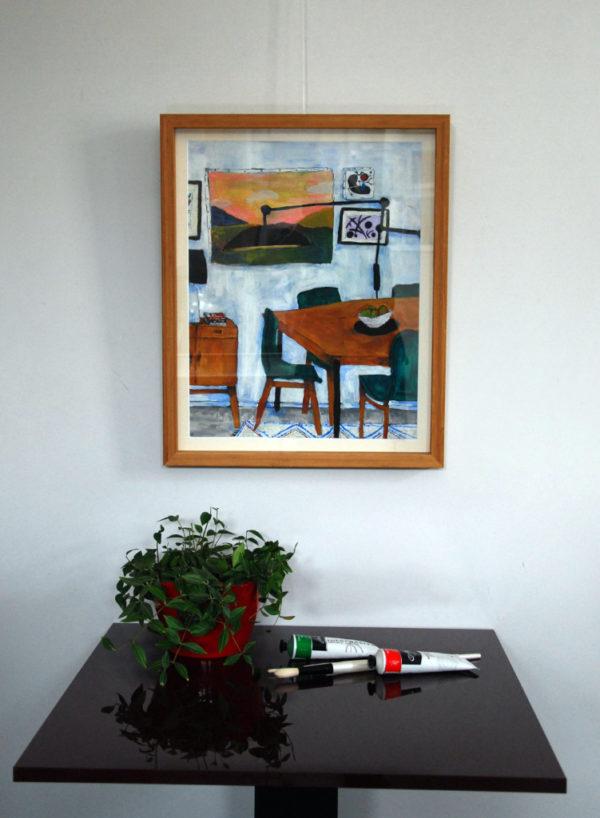 Salon aux chaises vertes de Sandra Paris