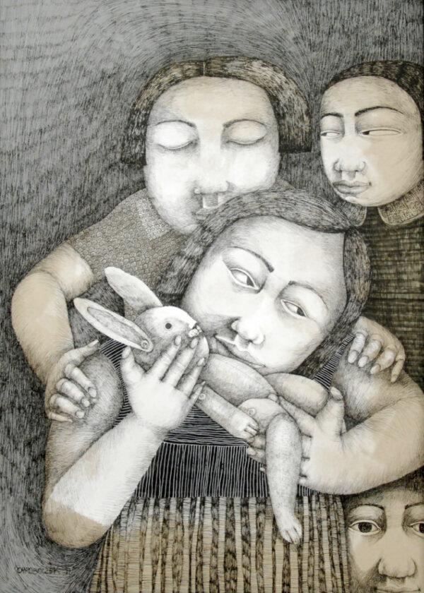 dessin, encre, enfance