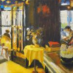 huile, restaurant, peinture, Paris