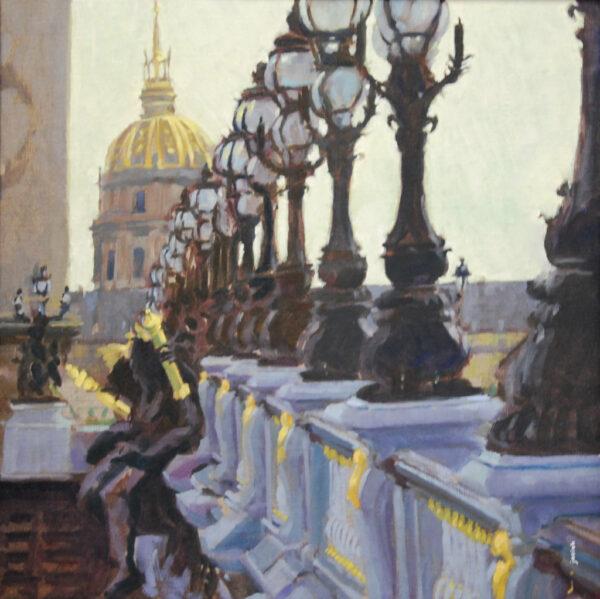 peinture, huile, Paris